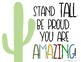 Cactus Themed Classroom Posters with Quotes