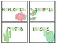 Cactus Themed Classroom Supply Labels
