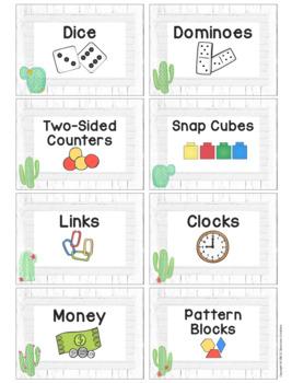 Cactus Themed Classroom Supply Labels-Classroom Decor