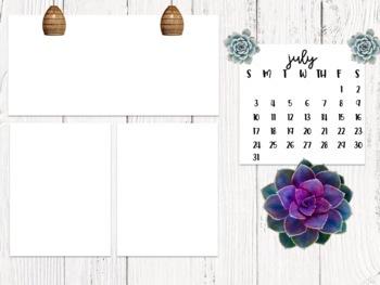 Cactus Themed Computer Wallpaper 2019 2020 School Year Desktop Organization
