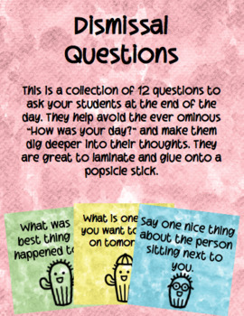 Cactus Themed Dismissal Questions