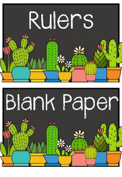 Cactus Themed Draw Labels By From Miss Stuart S Study Tpt