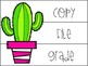 Cactus Themed Drawer Labels