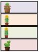 Cactus Themed Editable Name Tags (PPT)