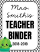 Editable Cactus Themed Teacher Binder