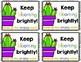 Cactus Themed Encouragement Notes