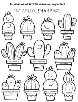 Cactus Themed Find Someone Sharp Who...