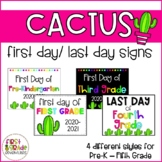 Cactus Themed First Day/Last Day of School Signs (2019-2020)
