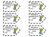 Cactus Themed Gift Tags for Students