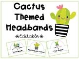 Cactus Themed Headbands *EDITABLE*