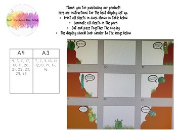 Cactus Themed Learning Pit- printable display pack