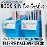 Cactus Themed Library Book Bin Labels: Extreme Makeover Cl