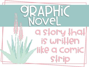 Cactus Themed Literary Genres Posters