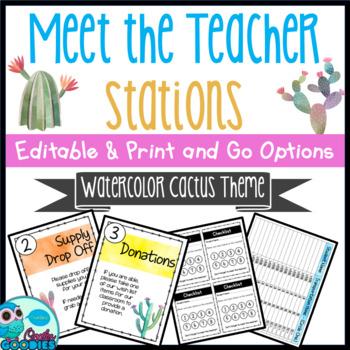 Cactus Themed - Meet the Teacher Night