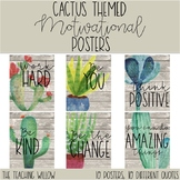 Cactus Themed Motivational Posters
