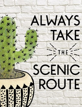 Cactus Themed Motivational Quotes: Classroom Decor