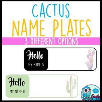 Cactus Themed - Name Plates