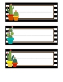 Cactus Themed Name Tags: Brights and Stripes Cactus Collection