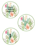 Cactus Themed Labels
