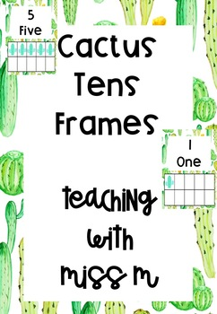 Cactus Themed Numbers 1-10 with tens frames #ausbts18