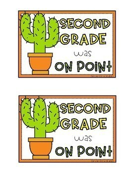 Cactus Themed On Point End of the Year Cards