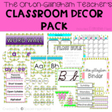Cactus Themed Orton-Gillingham Classroom Decor Pack
