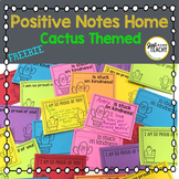 Cactus Themed Positive Notes Home
