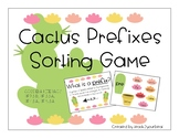 Cactus Themed Prefix Sorting Game (Daily 5 Word Work / CCS