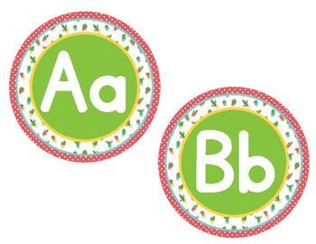Cactus Themed Small Alphabet