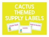 Cactus Themed Supply Labels