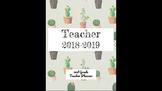 Cactus-Themed Teacher Planner