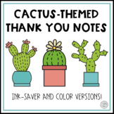 Cactus-Themed Thank You Notes