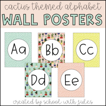 Cactus Lovers Wall Poster Decor (Editable)