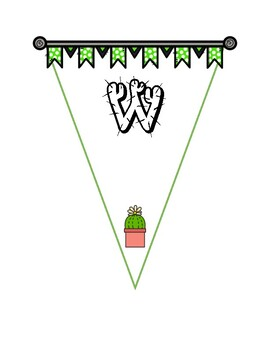 Cactus Themed Welcome Banner (English and Spanish)