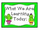 Cactus Themed What We Are Learning Cards