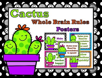 Cactus Themed Whole Brain Rules Posters