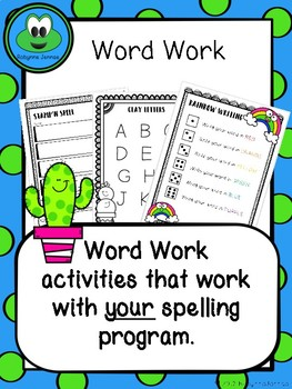 Cactus Themed Word Work