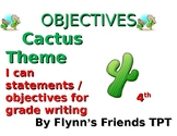 Cactus Themed Writing I Can Statements / Objectives for up