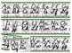 Cactus Themed cursive and print alphabet strip