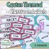 Cactus Themed editable classroom labels