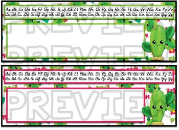 Cactus Themed editable nameplates with alpha strips