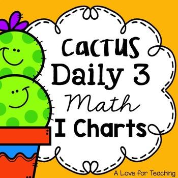Cactus Themes Daily 3 Math I Charts {Editable}