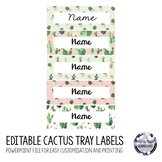 Cactus Tray Labels