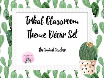 Cactus Tribal Themed Classroom Decor Set By The Topknot Teacher