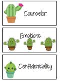 Cactus Vocabulary Cards