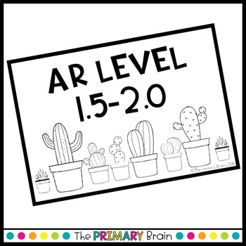 Cactus Watercolor Accelerated Reader Classroom Library EDITABLE Book Bin Labels