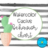 Cactus Watercolor Behavior Chart