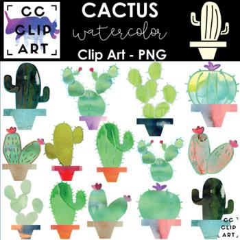Cactus Watercolor Clip Art - 15 Images