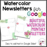 Cactus Watercolor Newsletters for Google