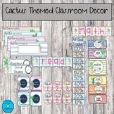 Cactus Watercolor Themed Classroom Decor *Growing Bundle*